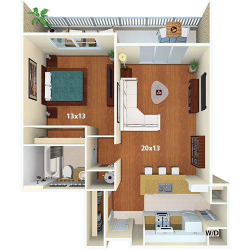 Yacht Club At Brickell Apartments 1 Bed Bath Monte Carlo Floor Plan