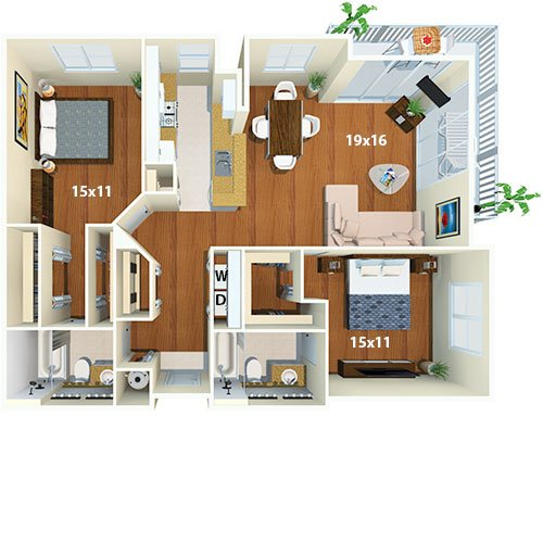 Yacht Club At Brickell Apartments 2 Bed Bath Portofino Floor Plan