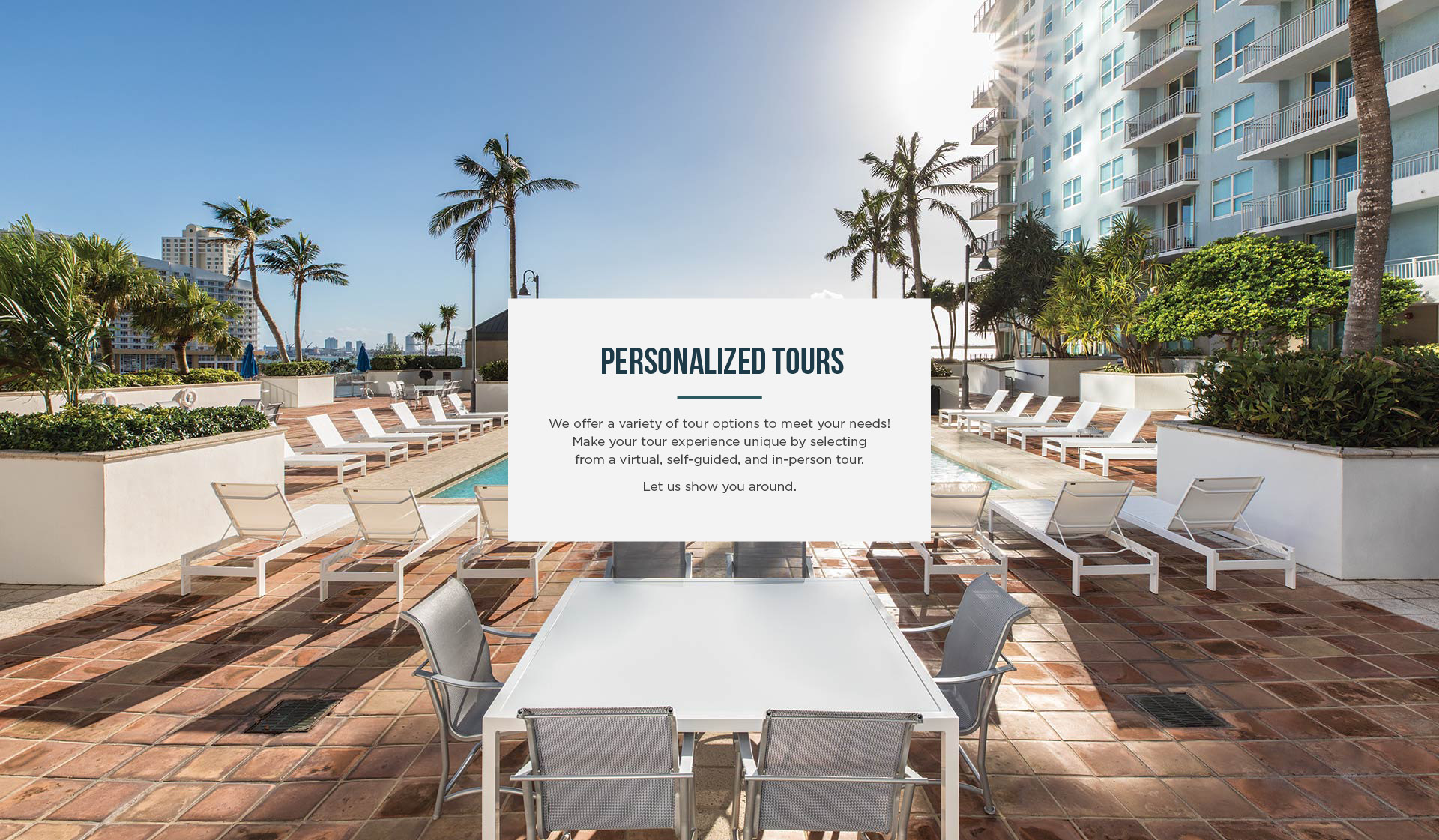 Yacht Club Apartments - Miami, FL - Pool View